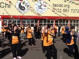 The wind dropped, the sun came out, and members enjoyed being able to do their tai chi outdoors