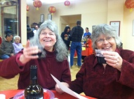 Lynette and Gail Toast the New Year